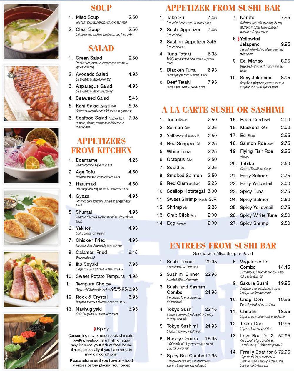 Amazing Tokyo Buffet Menu 5 Frrbs Freshsneaks De Beutiful Home Inspiration Truamahrainfo